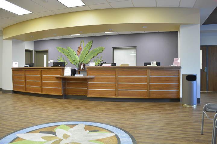 Adult Medicine main reception desk.